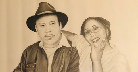 """An artist rendering of the late Patrick Alexander and his wife, Irene """"GG"""" Alexander. (Photo provided by Lorene Gomez)"""