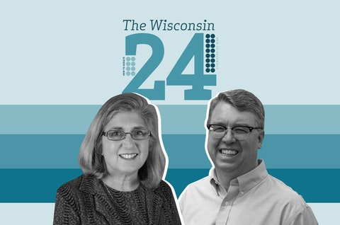 Rep.-elect Donna Rozar (R-Marshfield) from Assembly District 69, and Sen.-elect Brad Pfaff (D-La Crosse) from Senate District 32. (Graphic Illustration by Morgaine Ford-Workman)