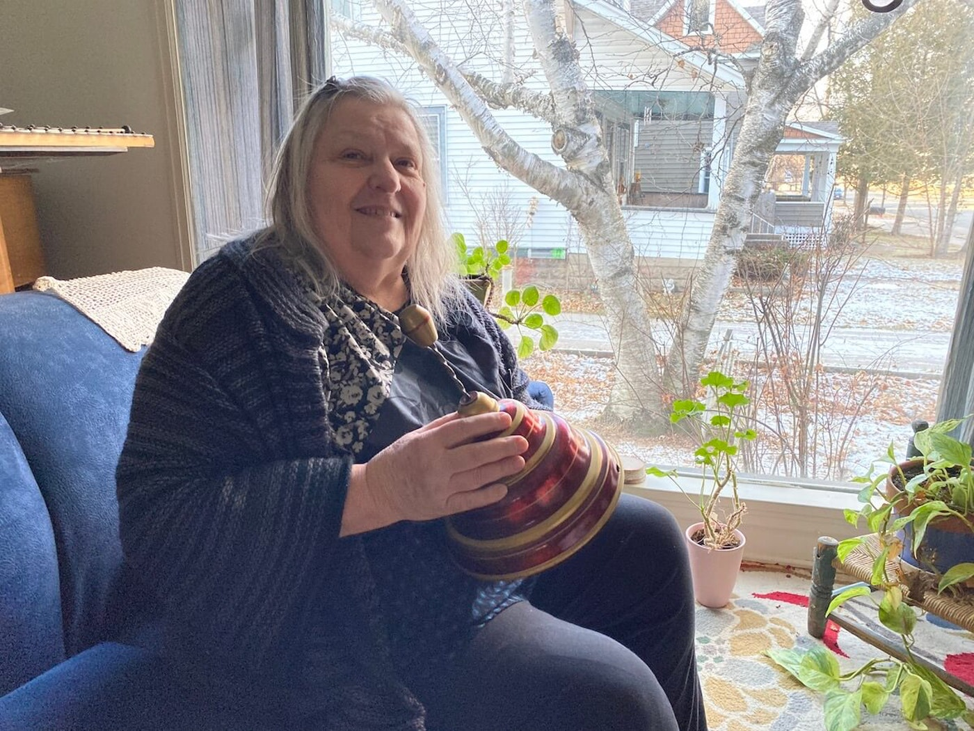 Cindy Tate recently received this German top and as a Christmas present, 67 years after one of her uncles intended to give it to her as a gift on the holiday. The top took a circuitous path to finally get to her. (Julian Emerson photo)