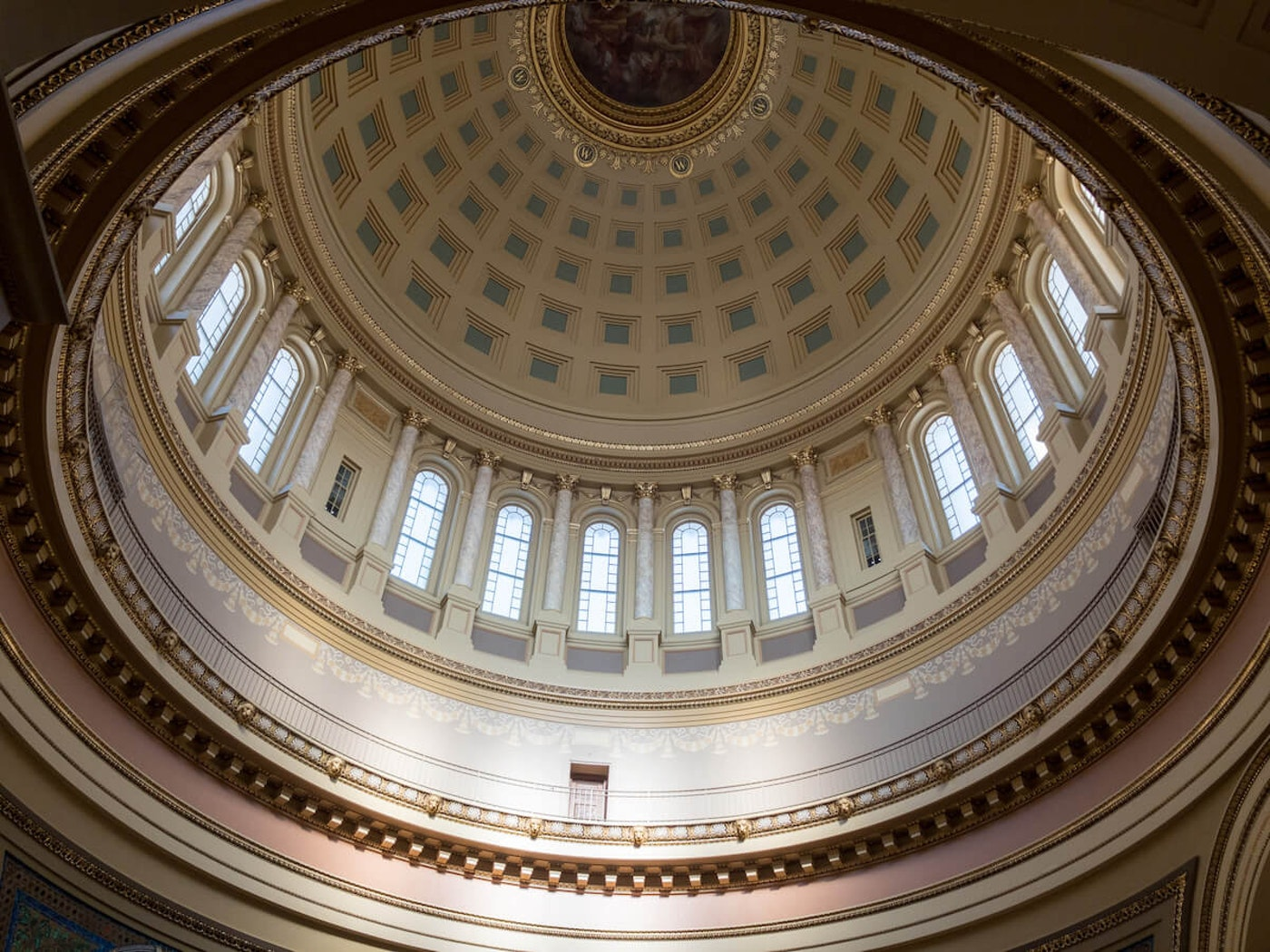 The interior of the Wisconsin state Capitol dome in Madison. (Photo by Christina Lieffring)