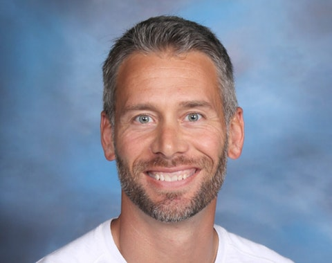 Jeff Taff, a social studies teacher at Burlington High School, is on administrative leave after sharing conspiracy theories about the Nov. 3 presidential election and attending a pro-Trump event in Washington, DC on Wednesday that devolved into a riot that breached the US Capitol. (Photo via Burlington Area School District)
