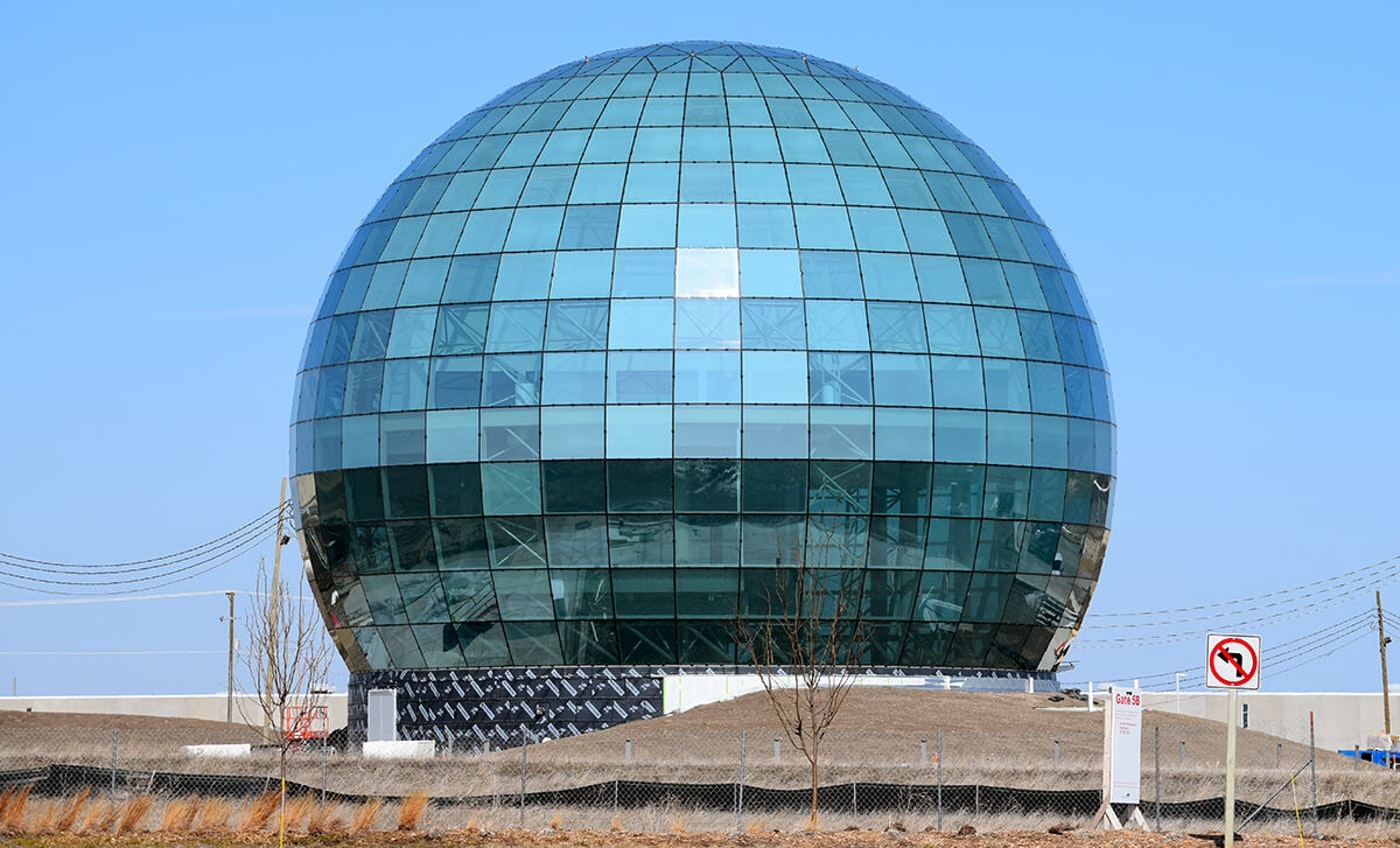 Foxconn globe in Mount Pleasant