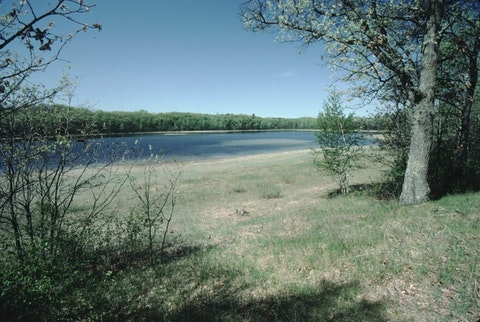 An archival image of the Plainfield Tunnel Channel Lakes in Waushara County, which have experienced a reduction in water levels due to groundwater withdrawals for irrigated agriculture. (Photo credit: Wisconsin DNR)