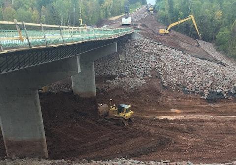 Bridge rebuilding in Ashland County
