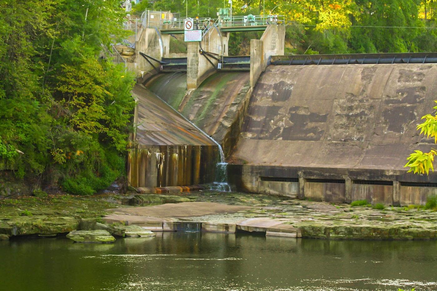 Cedar Falls Dam in Dunn County. (Photo via Getty Images)