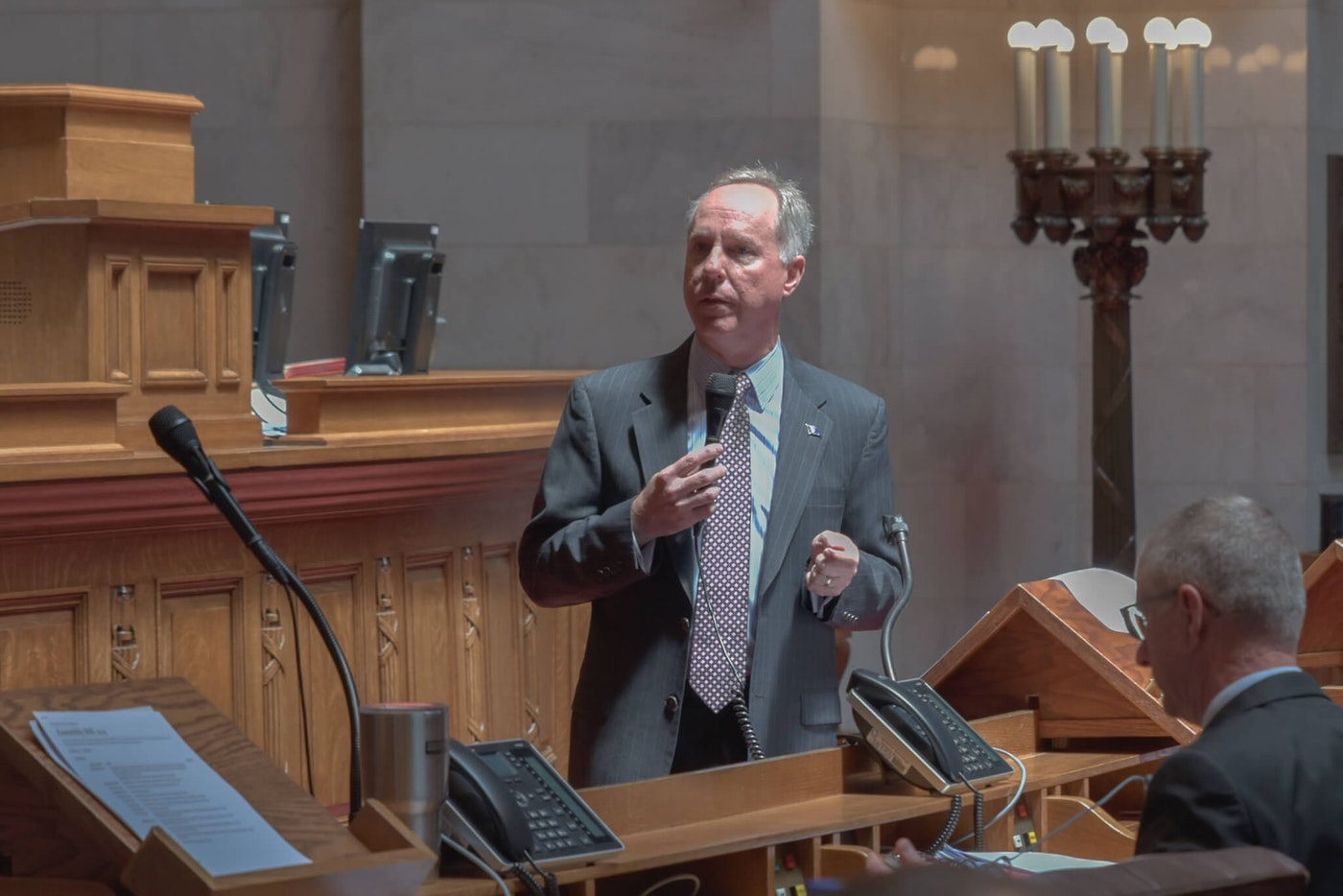 Assembly Speaker Robin Vos (R-Rochester) speaks during a June 22, 2021, Assembly floor session. (Photo by Christina Lieffring)