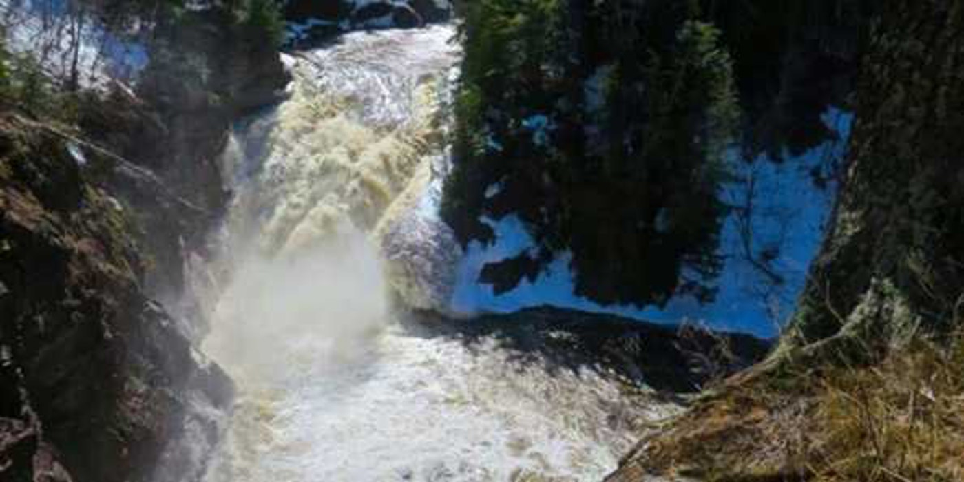 Superior Falls in Iron County. (Photo via Wisconsin Department of Natural Resources)