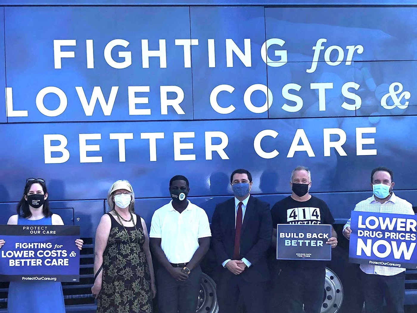 Milwaukee County Executive David Crowley, center in white shirt, says that while communities like Milwaukee are national leaders in fighting healthcare disparities, they need help from federal elected officials to fully achieve their goals. (Photo courtesy of Protect Our Care)
