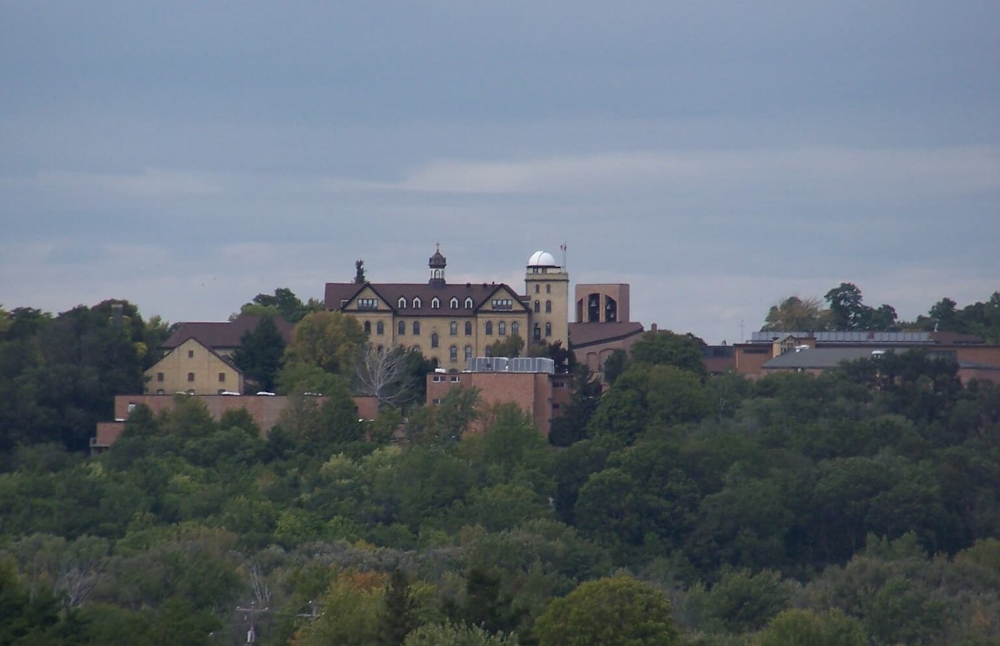 A view of St. Lawrence Seminary in Mount Calvary from County Trunk W. (Photo by Tobyhark/CC BY 3.0)