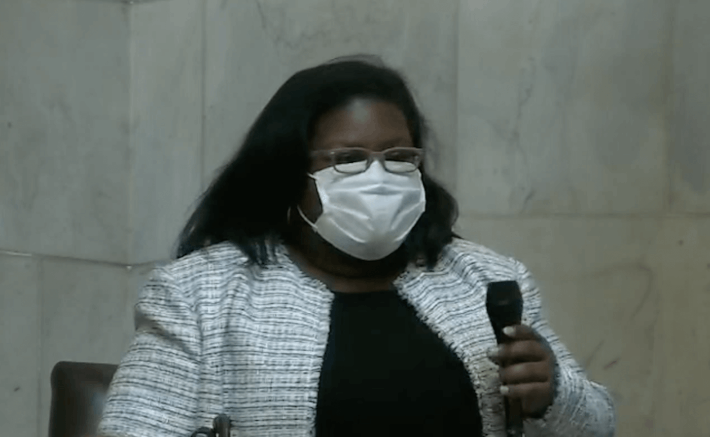 Democratic state Rep. LaKeshia Myers, of Milwaukee, speaks on the  floor of the Wisconsin Assembly on Tuesday about the coded language present in so-called 'Critical Race Theory' bills put forward by the chamber's Republican leadership.  (Screenshot via WisEye)