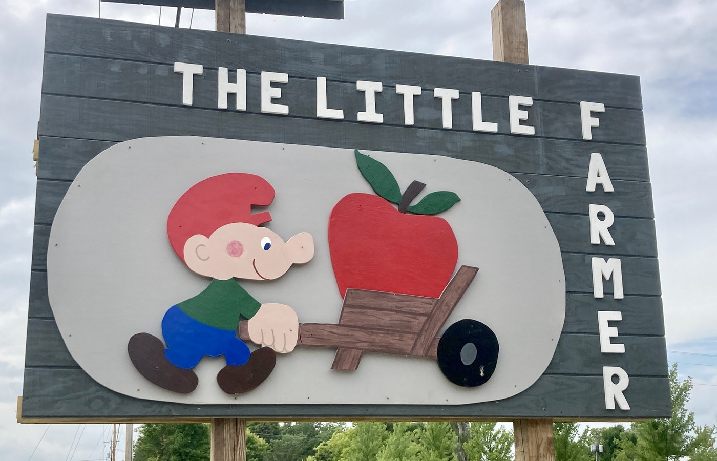 The Little Farmer in Malone has apple picking, homemade pies, and goats for petting. (Photo by Susan Lampert Smith)