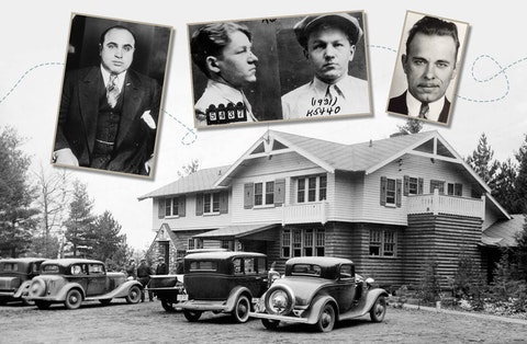 """Al Capone, left, Baby Face Nelson, and John Dillinger were among the gangsters who came to Wisconsin in the 1920s for """"work"""" and play. (Graphic by Morgaine Ford-Workman)"""