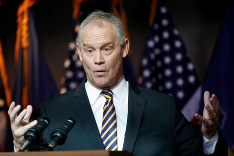 File —In this file photo from Jan. 23, 2020, Pennsylvania Speaker of the House, Mike Turzai, announces at a news conference he will not run for another term as a Pennsylvania Representative, in McCandless, Pa. Turzai's last day will be Monday June 15, 2020. (AP Photo/Keith Srakocic, File)
