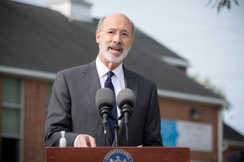 Gov. Tom Wolf speaks at a press conference in York on Monday, Sept. 15, 2020. Wolf said he did what was necessary this year to mitigate the health effects of the novel coronavirus pandemic. (Flickr/Office of Gov. Tom Wolf)