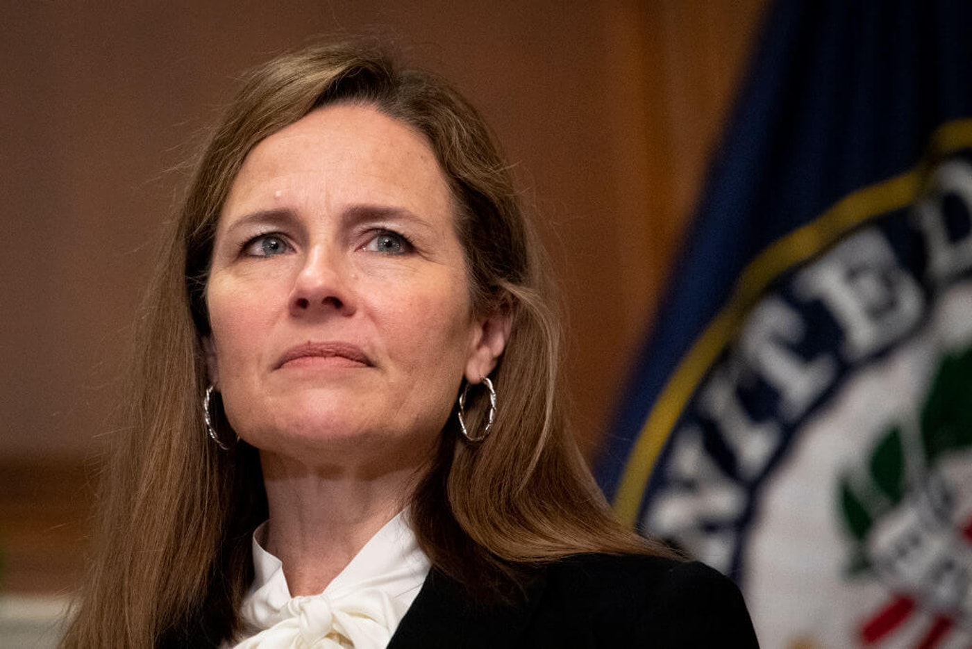 Amy Coney Barrett, President Trump's nominee to replace Justice Ruth Bader Ginsburg on the Supreme Court, holds views that don't align with a majority of American Catholics (Getty/Pool).