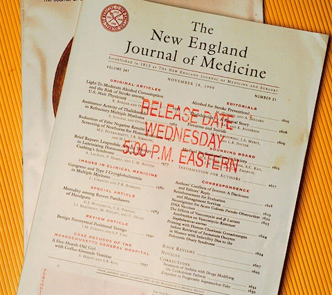 The New England Journal of Medicine and JAMA  (Photo by Rick Meyer/Los Angeles Times via Getty Images)