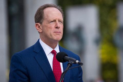 Sen. Pat Toomey, R-Pa., speaks during a ceremony in September 2019 in Washington, D.C. (AP Photo/Alex Brandon)