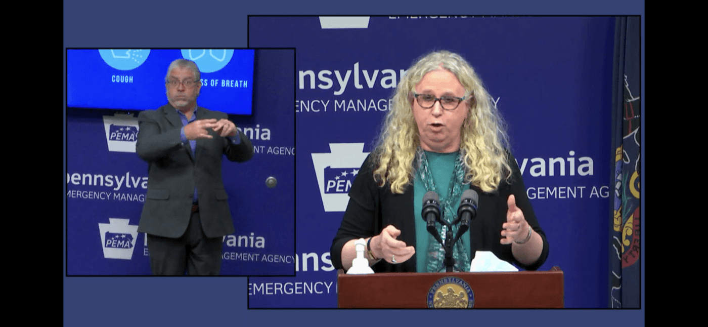 State Secretary of Health Dr. Rachel Levine speaks during a news conference on Oct. 19, 2020. (Flickr/Office of Gov. Tom Wolf)