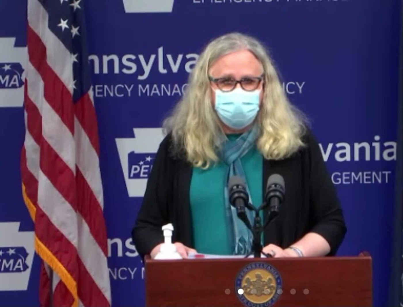 Pennsylvania Secretary of Health Dr. Rachel Levine speaks during a news conference on Thursday, Nov. 19, 2020. (Screenshot)