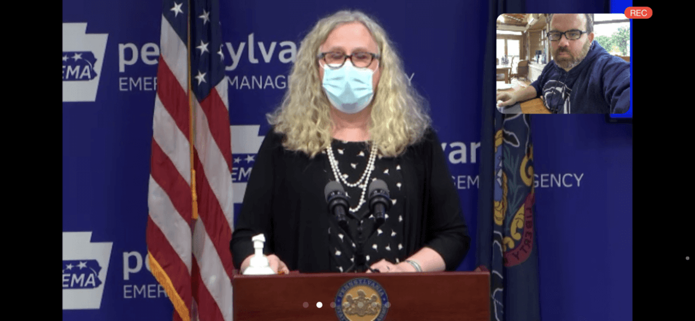 State Secretary of Health Dr. Rachel Levine speaks during a news conference on Monday, Nov. 30, 2020. (Screenshot)