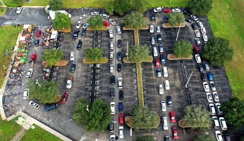 Food insecurity—already approaching record levels across the United States—could get even worse if federal programs lapse at the end of December. This line of cars was seen in Florida last week. (Photo by Paul Hennessy/SOPA Images/LightRocket via Getty Images)