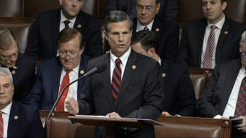 US Rep. Dan Meuser, R-Luzerne, speaks in on the House floor on Dec. 18, 2019. (House Television via AP)