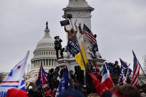 Trump supporters gathered in the nation's capital to protest the ratification of President-elect Joe Biden's Electoral College victory over President Donald Trump in the 2020 election. The demonstration turned violent and deadly. (Getty Images Photo/ Spencer Platt)