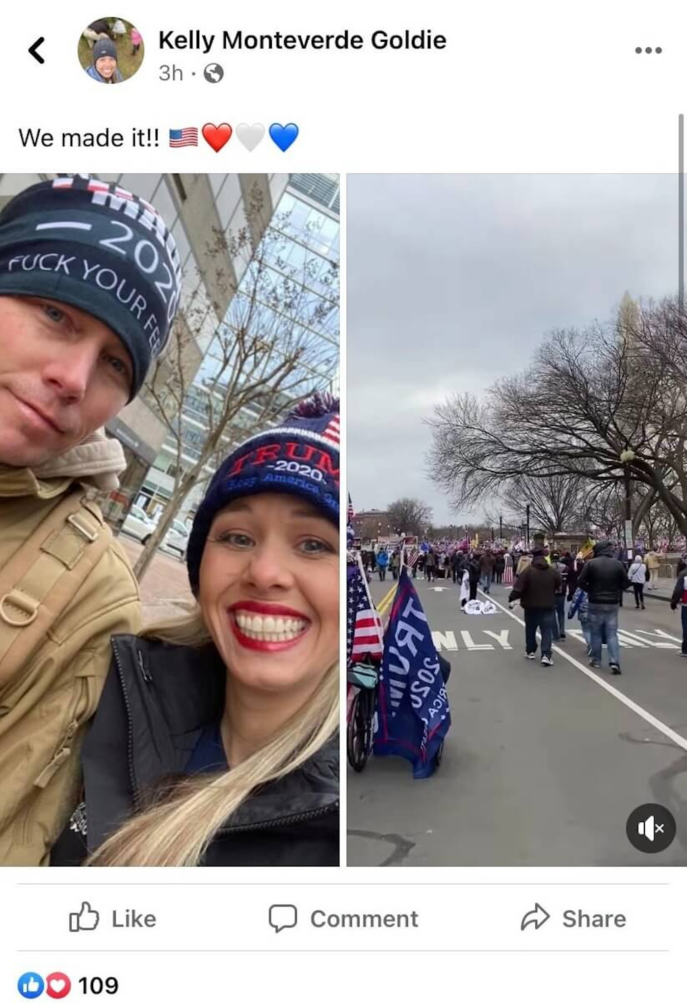 Officer Thomas Goldie of the Zelienople Borough Police Department attended Wednesday's Rally in Washington, DC. There's no evidence he took part in the attack on the Capitol.