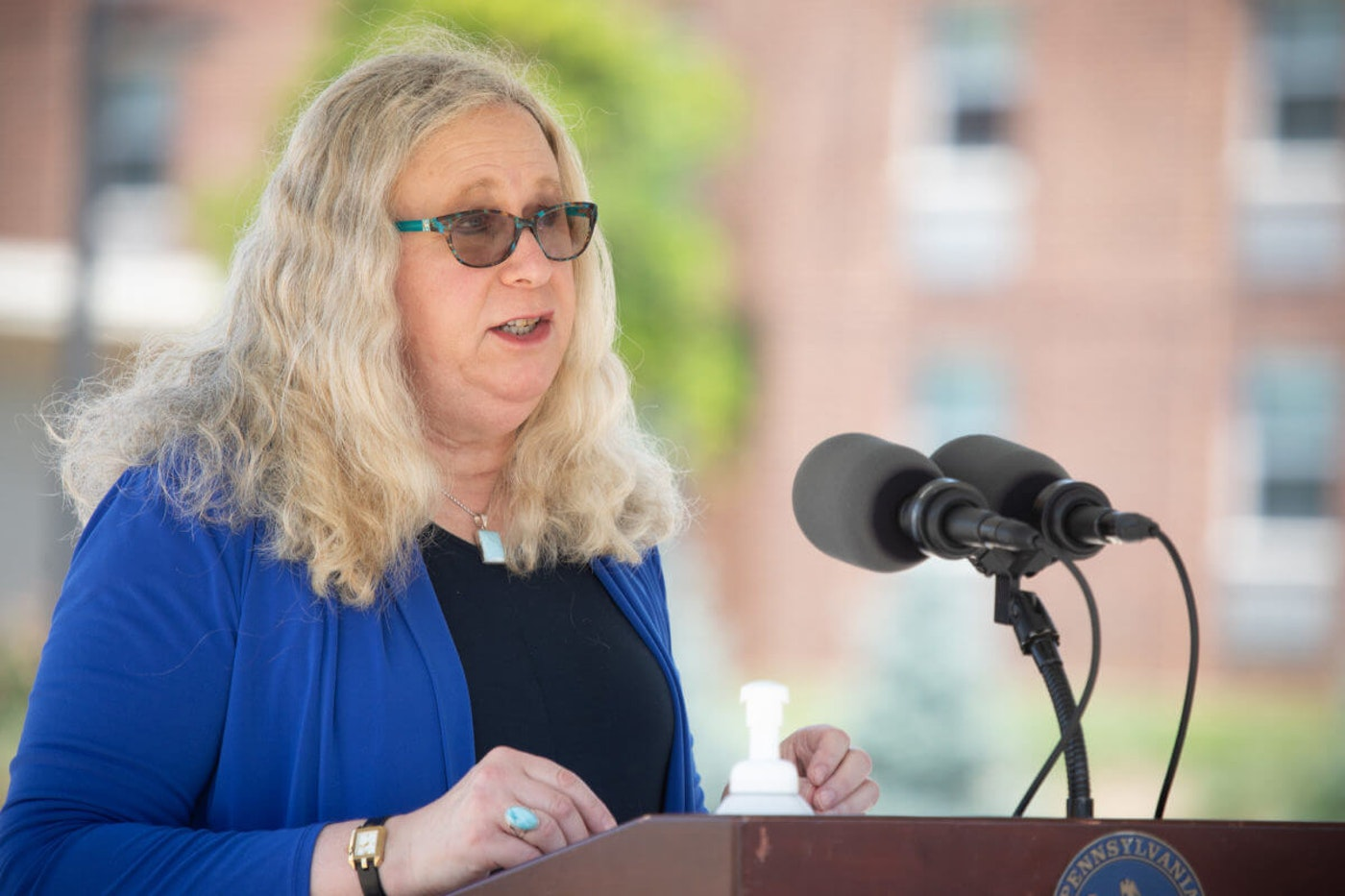 Pennsylvania Secretary of Health Dr. Rachel Levine speaks at a news conference on July 21, 2020, in York, York County. (Flickr/Office of Gov. Tom Wolf)