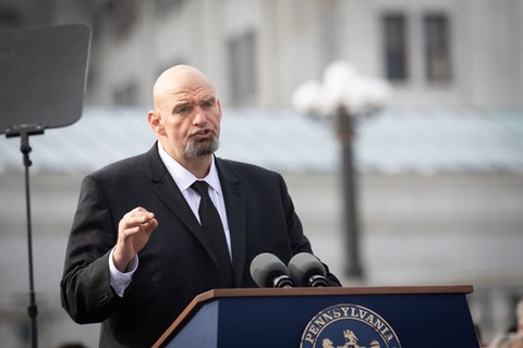John Fetterman speaks during his inauguration as lieutenant governor on Jan. 15, 2019. (Flickr/Office of Gov. Tom Wolf)