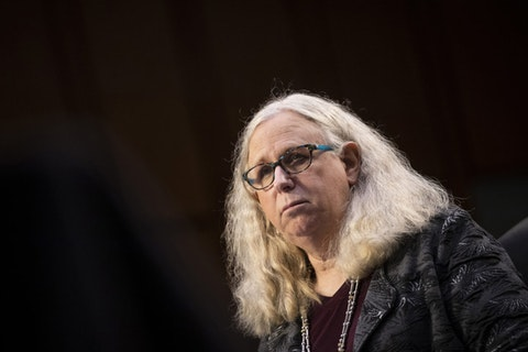 Rachel Levine, nominated to be an assistant secretary at the Department of Health and Human Services, testifies before the Senate Health, Education, Labor, and Pensions committee on Capitol Hill in Washington on Thursday, Feb. 25, 2021. (Caroline Brehman/Pool via AP)