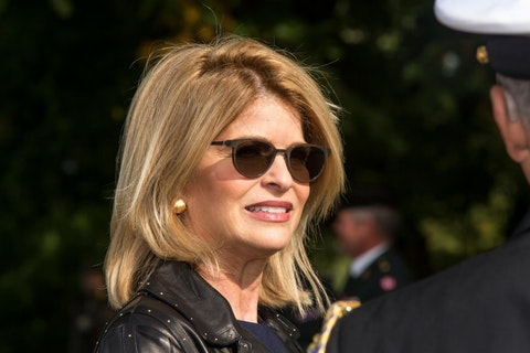 Carla Sands seen at the official inauguration of the Australian War Monument at the Churchill Memorial Park on September 17, 2020 in Copenhagen, Denmark. (Photo by Ole Jensen/Getty Images)