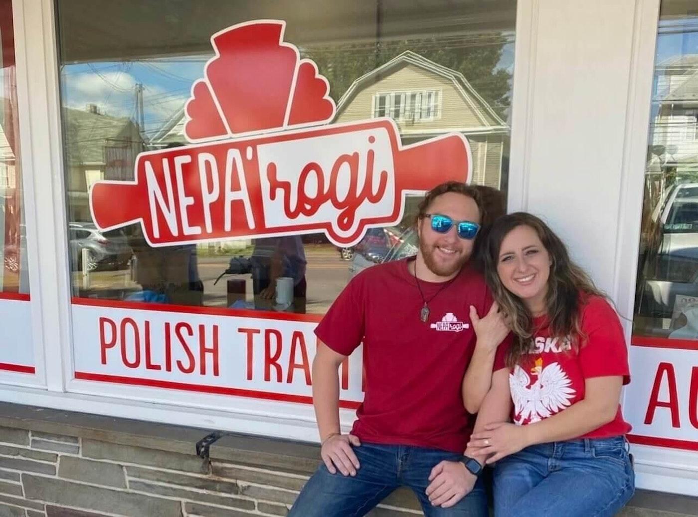 NEPA'rogi owners Frank Marcinkowski and Lauren Gorney, in front of their Luzerne County shop. (Courtesy of Lauren Gorney)