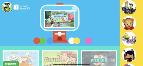 PBS Kids is available on iPhone and Android devices. Screen capture via PBS Detroit