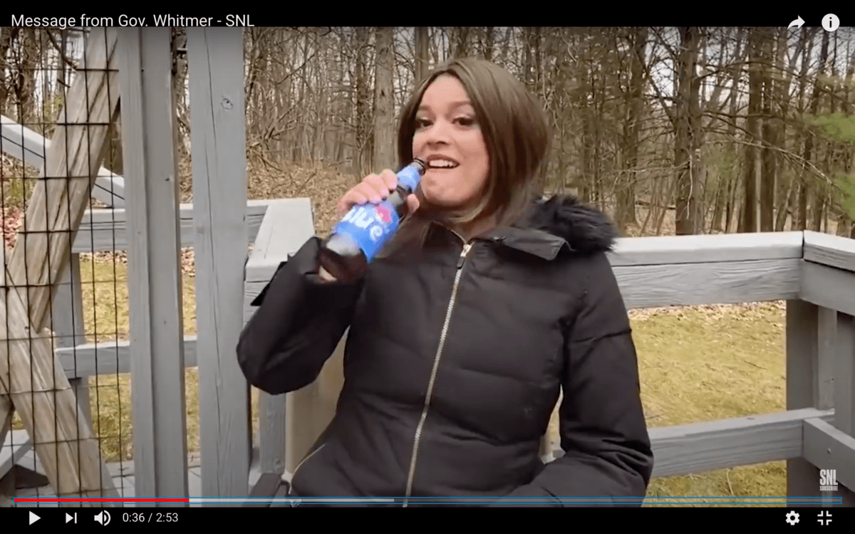 Watch 5 Times Snl Spoofed Gov Whitmer Perfectly