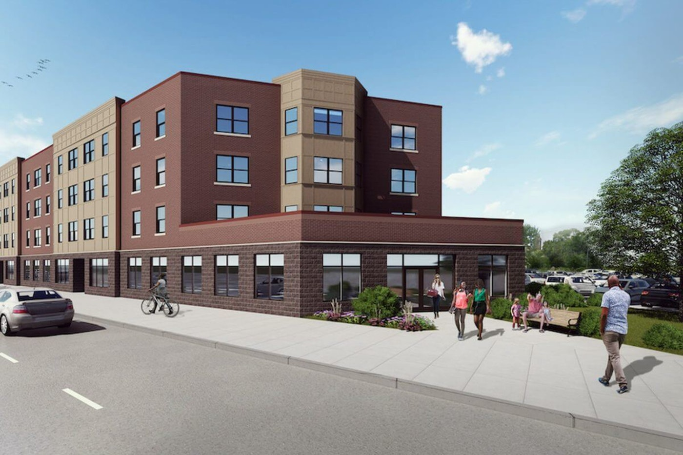 Rendering of Gratiot Central Commons which will have 36 affordable units | Catholic Pastoral Alliance