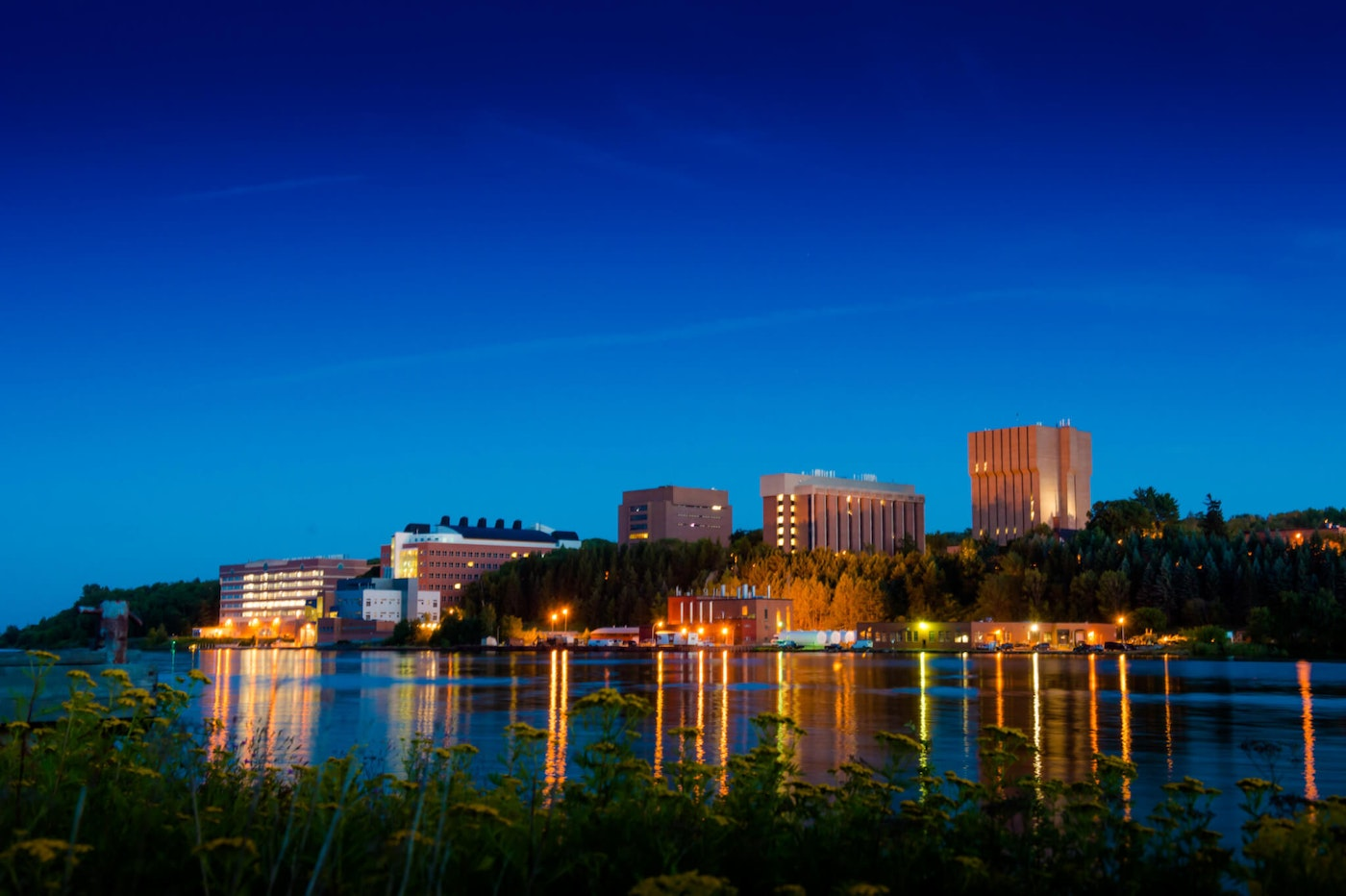Michigan Tech in Houghton, at night. Photo by Jcvertin - Own work, CC BY-SA 4.0 via Wikimedia Commons