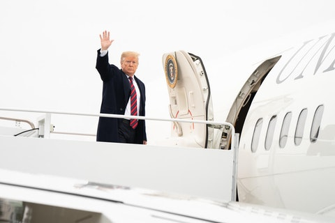 President Donald J. Trump arrives at Joint Base Andrews Air Force Base Saturday, January 19, 2019, in Maryland, en route Dover, Delaware.  (Official White House Photo by Shealah Craighead)