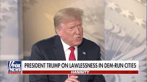 President Trump on Hannity June 25, 2020. (Image via YouTube)