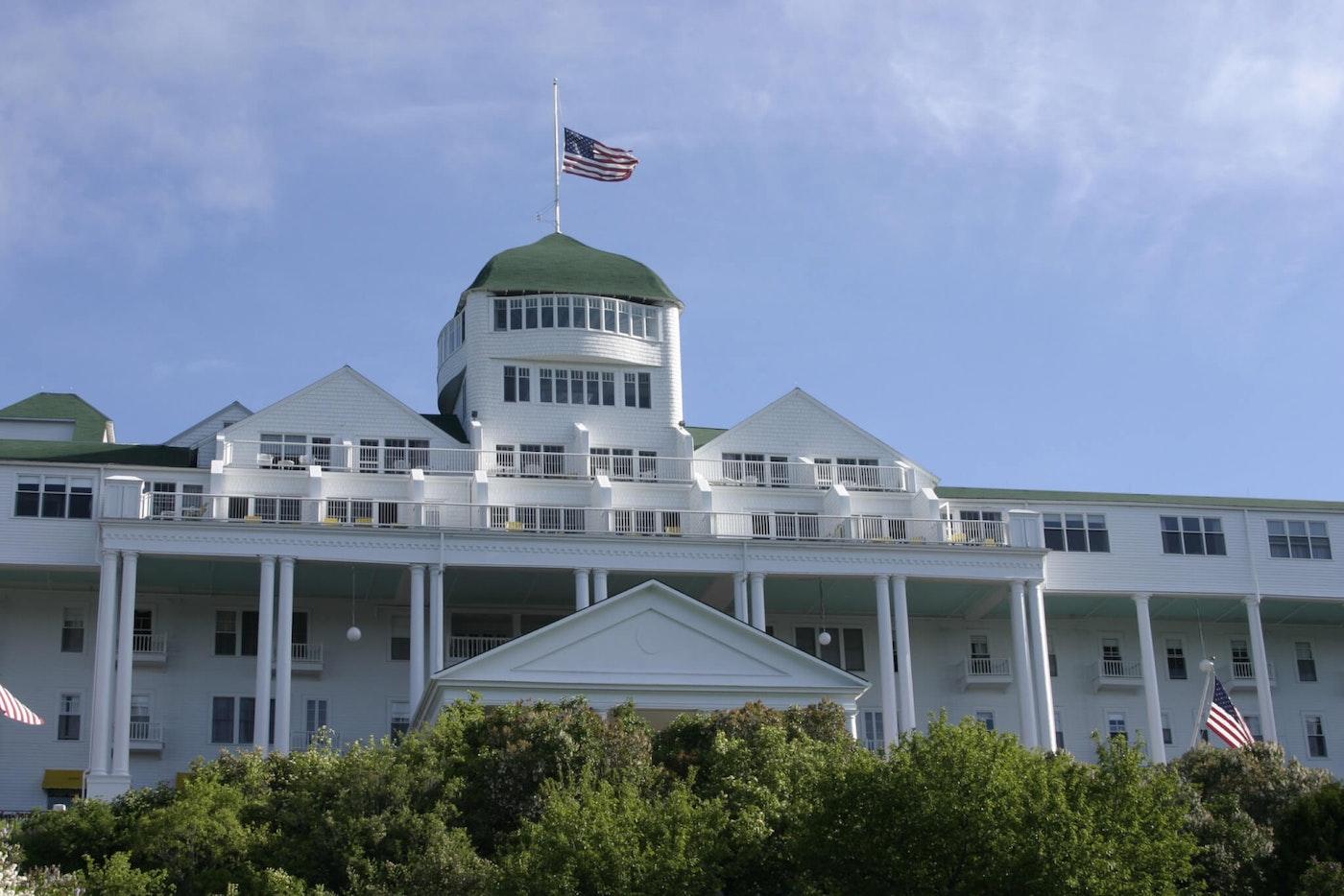 Mackinac Island's Grand Hotel (Photo via Shutterstock)