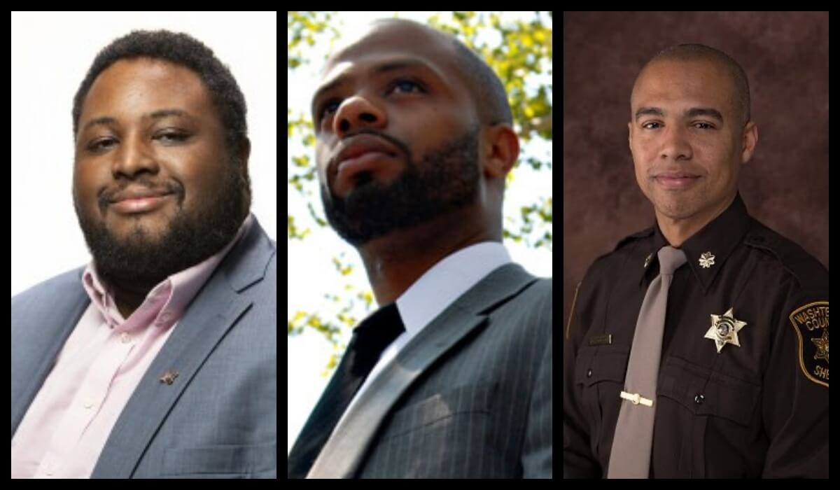 Course facilitators Ryan Henyard, R. L'Heureux Lewis-McCoy and Derrick Jackson. (Photos via Facebook)
