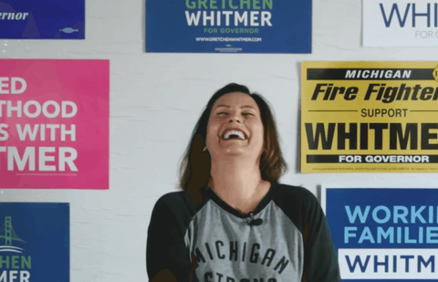 In one of our favorite moments from Gov. Whitmer's campaign, she read and responded to mean tweets. Her clapbacks were often 100% wittier than the tweets fired her way — so watch out if you're ever thinking of @ing her with some nonsense. (Screenshot via YouTube)