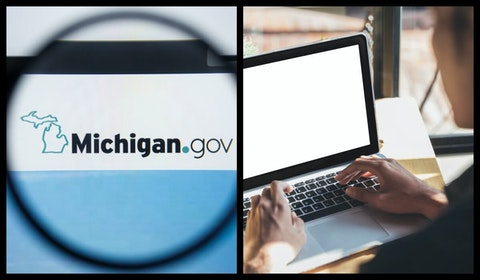 Michigan voters who want absentee ballots can now request ballots online with no need to print and return applications by mail. Photos via Shutterstock.