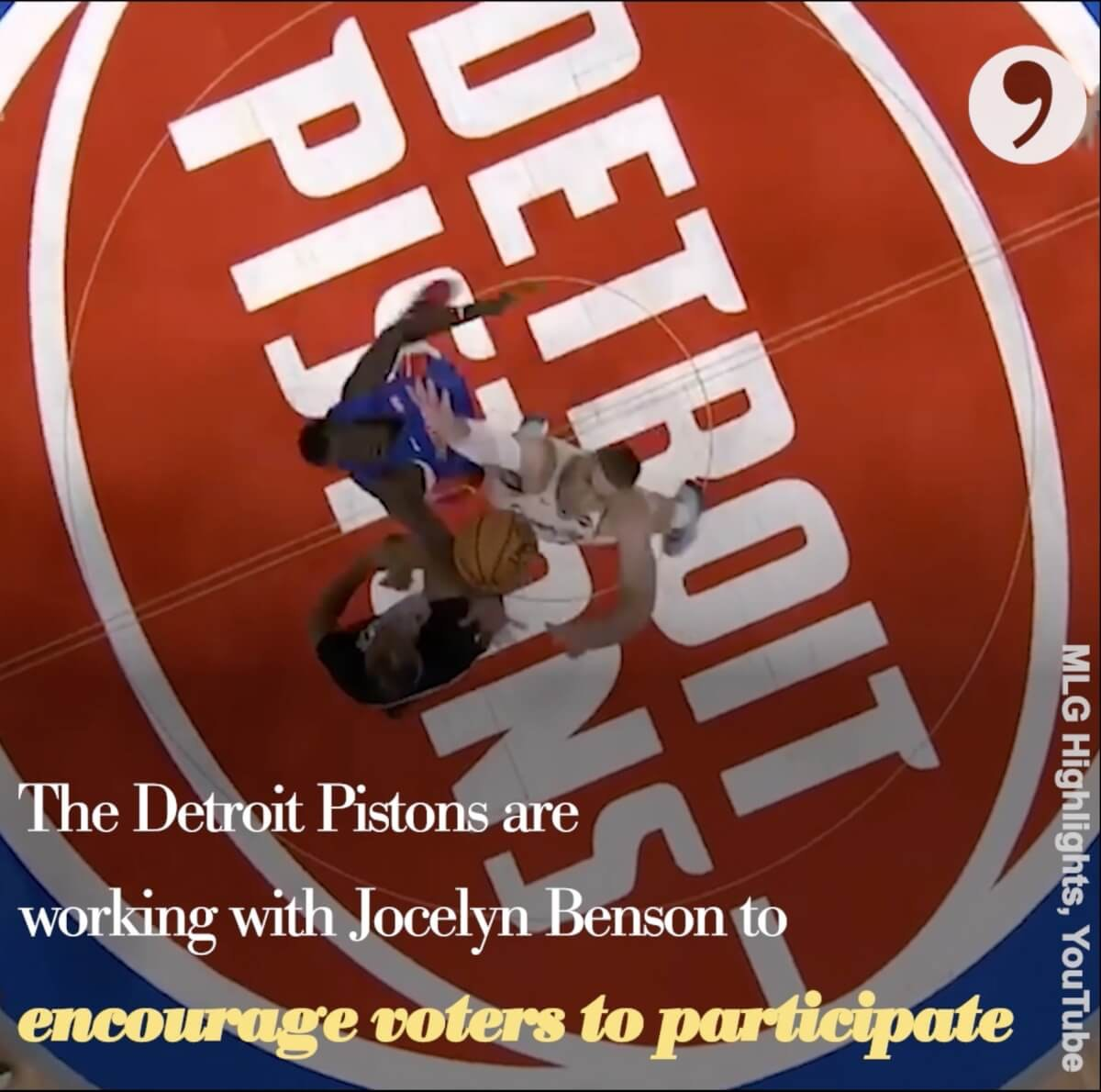 The Detroit Pistons are partnering with Michigan Secretary of State Jocelyn Benson to encourage everyone to vote in upcoming elections.