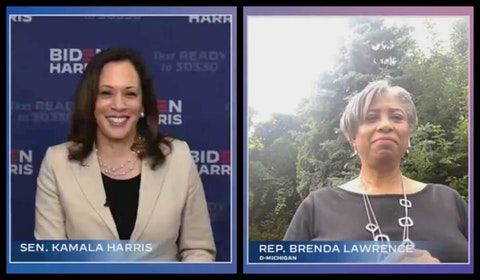 Kamala Harris Brenda Lawrence Black women Michigan voters