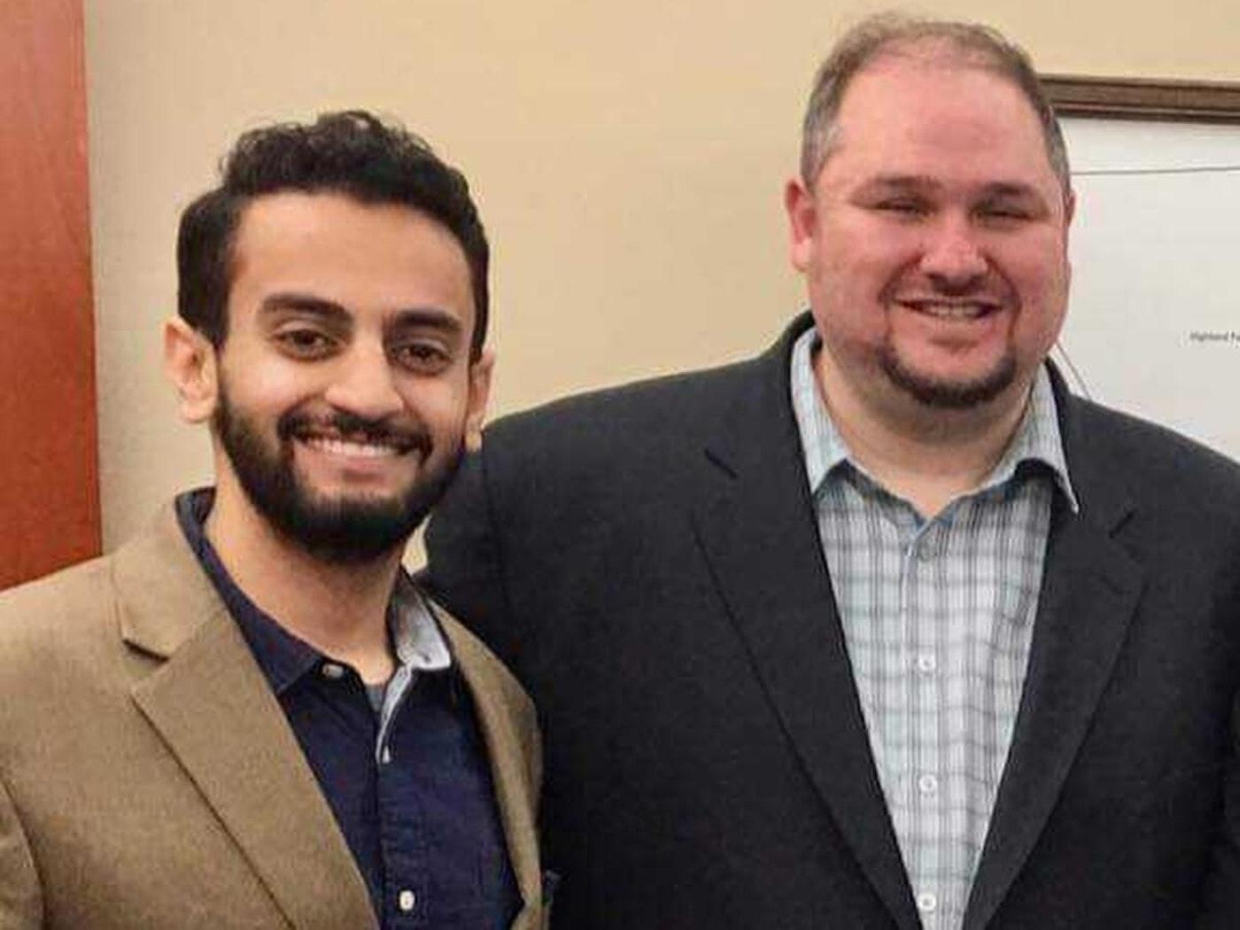 Abraham Ayiash and Isaac Robinson. Photo courtesy Abraham Aiyash.