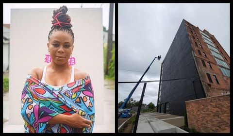 Detroiter Sydney G. James will create and install Detroit's newest art installation.