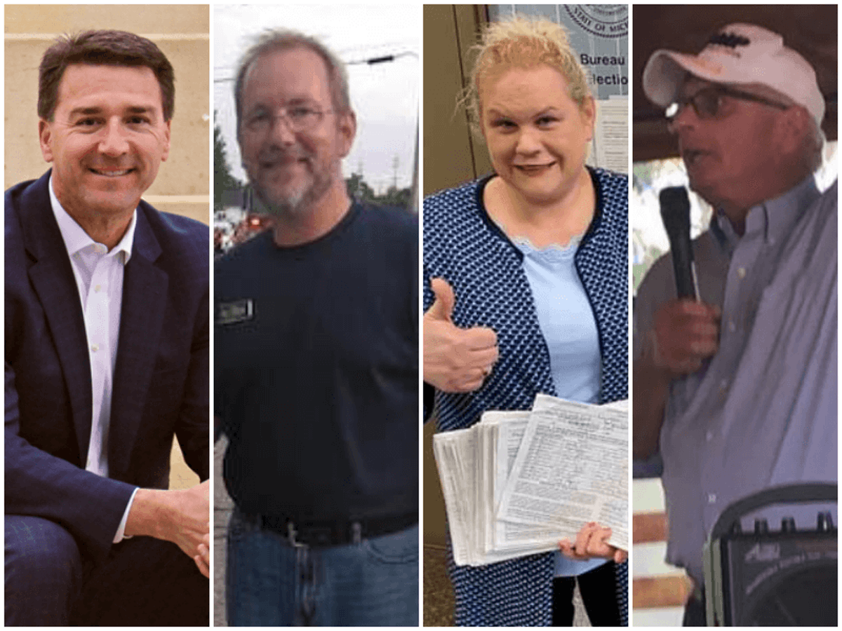 Candidates for the seats of Reps. Slotkin and Stevens. Photos courtesy their campaigns.