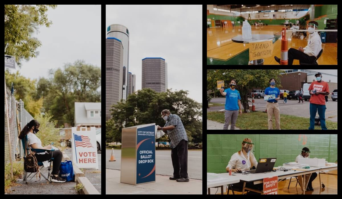 Michiganders from city to suburb, and everything in between, cast their ballots for the primary on Tuesday. Photos by Franz Knight