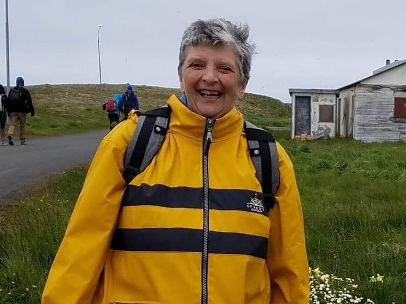 Maureen Pickelman on an arctic vacation. Photo courtesy Kathy Rank.